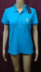 RALPH LAUREN SPORT WOMENS POLO SHIRT TOP BLOUSE - SIZE LARGE - NEW W TAGS NWT