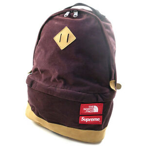 SUPREME  THE NORTH FACE 12 AW Medium Day Pack Backpack Backpack DARK RED FREE