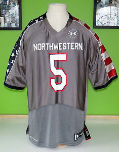 RARE Under Armour Football Jersey Wounded WARRIORS UA Northwestern COURAGE #5 LG
