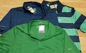 NEW Men's Nike Dri Fit Golf Polo LOT of 3 Size Small SM Under Armour Cold Black
