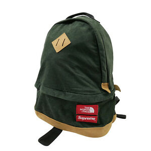 SUPREME  THE NORTH FACE 12AW Medium Day Pack Backpack Backpack GREEN FREE