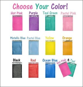 4x8 Hot PinkTeal Poly Bubble Mailers Colored Padded Shipping Mailing Envelopes $19.95