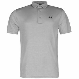 Under Armour Playoff Golf Polo Shirt Mens Grey Top T-Shirt Tee