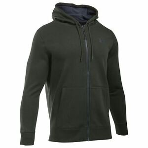 Under Armour Storm Rival Full Zip Hoody Mens GreenGrey Hoodie Jacket Sportswear