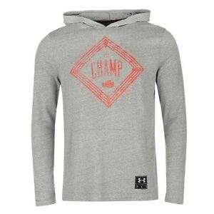 Under Armour Cassius Clay Pullover Hoody Mens GreyNvy Hoodie Sweater Sportswear