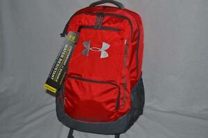 AUTHENTIC UNDER ARMOUR  Storm Hustle II RED GREY BACKPACK DAYPACK BOOKPACK NEW