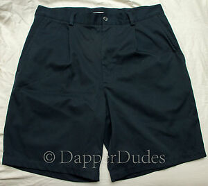 NIKE Golf FitDry Shorts-Men's 33-Navy Blue-Single Pleated