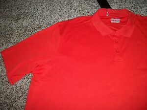 UNDER ARMOUR New NWT Mens 4XL XXXXL Polo Shirt Orange Solid Loose Fit