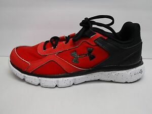 Under Armour Size 5 Y Black Red Running Sneakers New Boys Shoes
