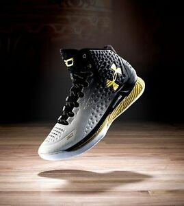 Under Armour UA Curry 1 MVP BLACK WHITE GOLD