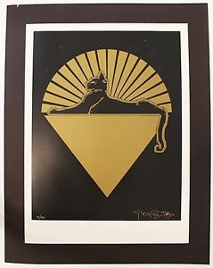Mid Century Modern Stanley Mouse Gold Poster 97500 Signed Cats Under The Stars