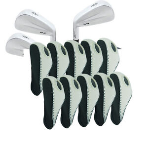 10Pcs Neoprene Golf IRON COVERS HEAD GOLF IRON COVER Gray White US SHIP $12.99