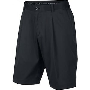Men's Nike Golf Tour Dri-Fit Pleated Shorts NEW Black (683059-010)  $72