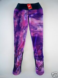 655618-547  New with tag Girls Nike Dri-fit printed running legging pant tight