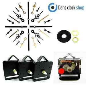 Replacement Silent Supersweep Quartz Clock Movement Mechanism Motor Metal Hands