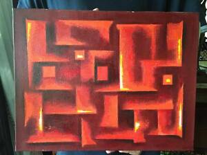 ITO : ORIGINAL HAND-PAINTED Japanese Artist Signed (RED HOT HELL CODE)