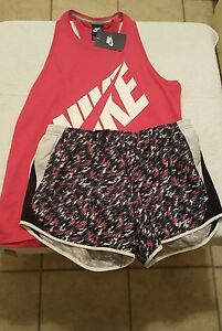 NWT Nike Women's  Dri-Fit Running Shorts and Racerback Tank Small