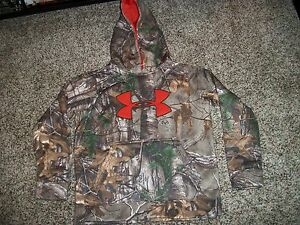 UNDER ARMOUR New NWT Youth Boys Hoodie Camo Realtree  XS Extra Small