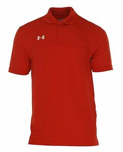 Under Armour Men's Short Sleeve Heat Gear Loose Fit Polo Red Size XXL $49.99