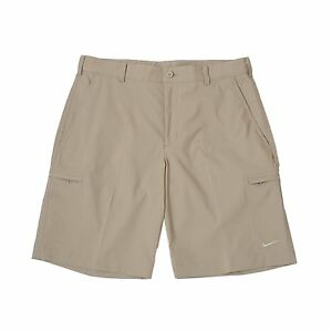 Men's Nike Golf Dri-Fit Flat Front Cargo Shorts NEW Khaki (401501-235) $65