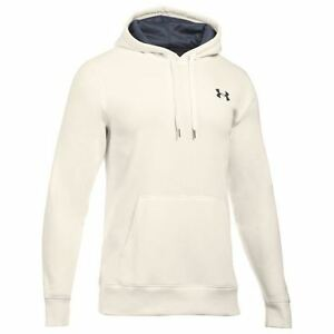 Under Armour Storm Rival Pullover Hoody Mens IvoryGry Hoodie Sweater Sportswear