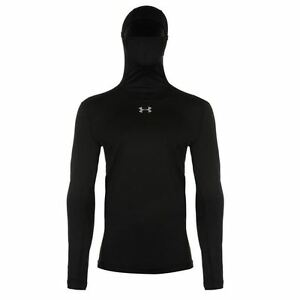 Under Armour ColdGear Compression Pullover Hoody Mens Black Hoodie Sportswear