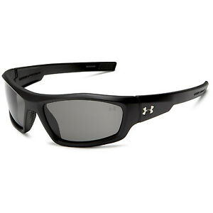 Under Armour UA Power Satin Black Frame Gray Lenses Men's Sport Sunglasses