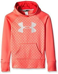Under Armour Girls' UA Big Logo Armour Fleece Hoodie Youth Small Success