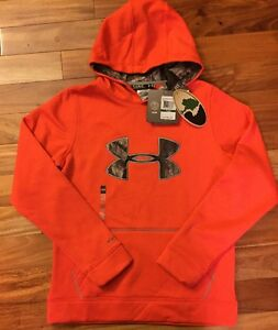 Under Armour Boys Storm Caliber Mossy Oak ColdGear Hoodie Camo - Large MSRP $54