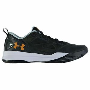 Under Armour Jet Low Basketball Shoes Mens GrnWht Trainers Sneakers Footwear