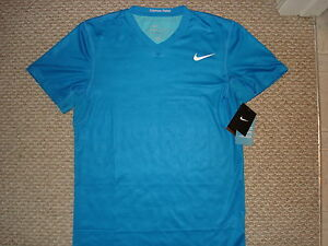 NWT Nike Nadal Fearless Tierra 2011 French Open Tennis Shirt Federer 405980-406