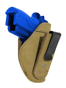 New Barsony Olive Drab Leather Tuckable IWB Holster for Mini Pocket 22 25 380 $32.99