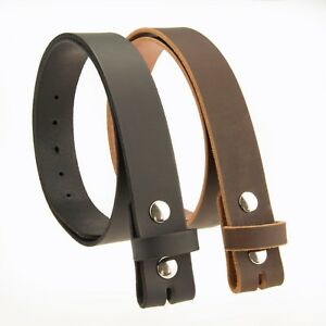 BUFFALO LEATHER CASUAL BELT STRAP_No Buckle_1-1/2