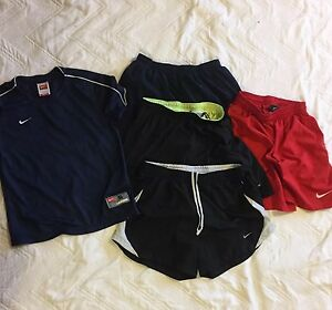 Kid Boy Nike Dry Fit Running Gym Short Shirt Lot Of Five Size S XS M