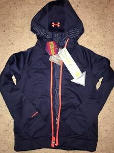 New Under Armour Boys Youth LRG UA Storm 2  ColdGear Infrared Zip Hoodie Jacket