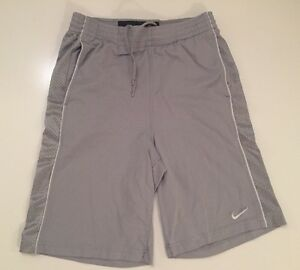 Nike Basketball Fit Dry Boys Size Large L Basketball Shorts Silver