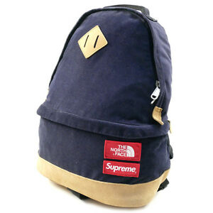 SUPREME  THE NORTH FACE 12 AW Medium Day Pack Backpack Backpack NAVY
