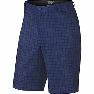 Nike Golf Men's Plaid Short Deep RoyalAnthracite CLOSEOUT 639801-455