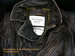 Abercrombie & Fitch Rollins Jacket genuine leather Kilburn NWT authentic