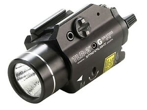 Streamlight TLR-2G Weapon Light LED with Green Laser and 2 CR123A 69250