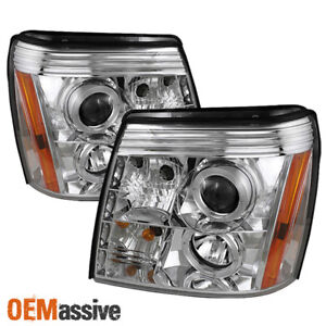 Fits 2002 2006 Cadillac Escalade Halo Projector Headlights DRL LED LeftRight $179.99