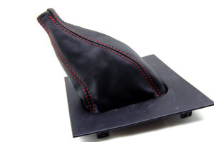 Manual Shift Boot Leather Synthetic for Ford Mustang 87 93 Red Stitch $22.99
