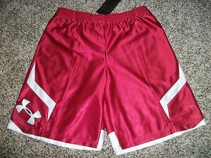 UNDER ARMOUR New NWT Boys Youth Kids XL Shorts Gym Athletic Loose Fit Dark Red