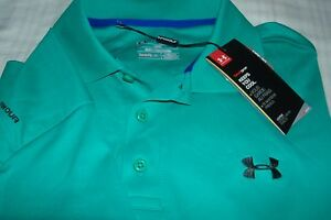 UNDER ARMOUR GOLF POLO*LOGO FRONTBACK SOFT GREEN*COLOR NICER IN PERSON SZ L