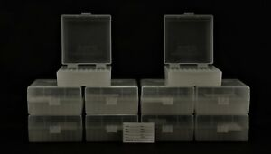 BERRY'S PLASTIC AMMO BOXES (10) CLEAR 100 ROUND 223  5.56 - FREE SHIPPING