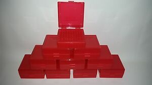 BERRY'S PLASTIC AMMO BOXES (10) RED 100 ROUND 223  5.56 - FREE SHIPPING