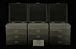 BERRY'S PLASTIC AMMO BOXES (12) CLEAR 100 Round 40 S&W  45 ACP - FREE SHIPPING
