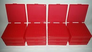 BERRY'S PLASTIC AMMO BOXES (12) RED 100 Round 40 S&W  45 ACP - FREE SHIPPING