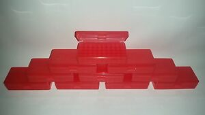 BERRY'S PLASTIC AMMO BOXES (10) RED 50 Round 40 S&W  45 ACP - FREE SHIPPING