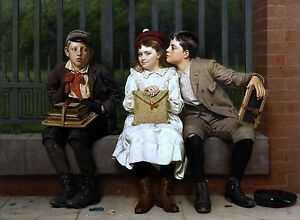 Not In It Painting by John George Brown Art Reproduction
